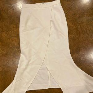 Chicwish white evening skirt size small